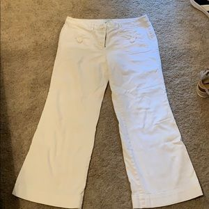 White denim flare Loft pants size 12P